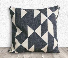 Pillow Cover, Geometric Pillow, Geometric Pillow Cover, Linen Pillow Cover 18x18 - Printed Geometric - 041 on Etsy, $17.03 CAD