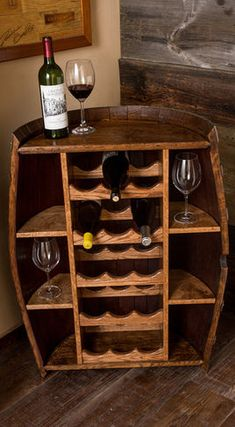 Wine Racks...Dena, I thought about Steve when I saw this...