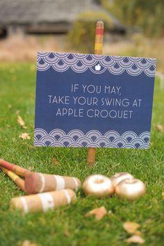 Apple Croquet - cute wedding game