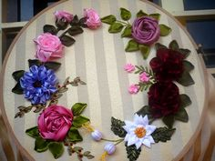 ribbon embroidery flowers - Google Search