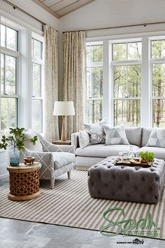 Living Room : Den :: Family Room :: Sarah Off the Grid? Sarah Richardson : See how Sarah adds touches of elegance and timeless charm to her living room. looks by clicking here! Room Interior Design, Living Room Interior, My Living Room, Living Room Decor, Barn Living, Family Room Design, Cheap Home Decor, Living Room Designs, Sarah Richardson