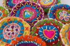 Embroidered Brooches | Flickr - Photo Sharing!