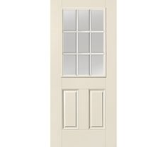 Therma-Tru Smooth Star Half Lite 2 Panel Door | Our Therma-Tru Smooth Star Half Lite 2 Panel Door features crisp, clean lines with a smooth, solid color painted surface. It has the look of a real wood door with the excellent performance and value of fiberglass.