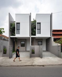 crinkbar - 0 results for architecture Minimal House Design, Modern Small House Design, Modern Villa Design, Duplex House Design, Townhouse Designs, Small Modern Home, Minimal Home, Tiny House Design, Modern House Plans