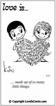 Love is....made up of so many little things..