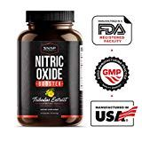 Nitric Oxide Supplement with L Arginine L Citrulline 1500mg Formula  Tribulus Extract & Panax Ginseng  Muscle Builder for Strength Blood Flow and Endurance Pre Workout Supplements