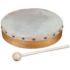 World Percussion HDR8 8In. Wood Hand Drum W/ Head:Amazon:Musical Instruments