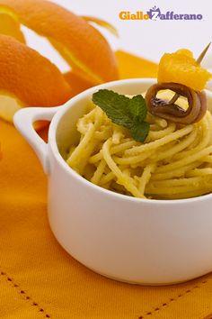 Spaghetti arancia e acciughe - Spaghetti with anchovies and orange