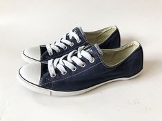 18850d77a56f Navy Blue Women s Converse All Star Chuck Taylor Sneakers Converse Low Cut  Athletic Shoes Lo Trainer