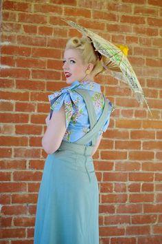 Sale 1940s skirt sizes XXS SWING in Style A line by nudeedudee