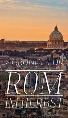 Wenn es bei uns in Deutschland langsam kühler wird, wärmt sich Rom noch immer an der spätsommerlichen Sonne. Die Touristenströme reißen ab und die Römer werden entspannter. Diese und andere Gründe locken jetzt im Herbst in die italienische Hauptstadt.