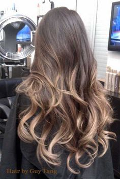 Here's Every Last Bit of Balayage Blonde Hair Color Inspiration You Need. balayage is a freehand painting technique, usually focusing on the top layer of hair, resulting in a more natural and dimensional approach to highlighting. Como Fazer Ombre Hair, Cabelo Ombre Hair, Balayage Hair, Balayage Color, Bayalage, Brown Balayage, Guy Tang Balayage, Ombré Hair, Ombre Hair Color