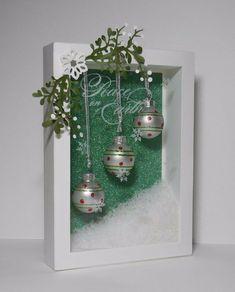 Pin by Rachael Howell on Christmas shadow boxes Christmas Shadow Boxes, Christmas Frames, Noel Christmas, Homemade Christmas, All Things Christmas, Winter Christmas, Christmas Wreaths, Christmas Ornaments, Christmas Train