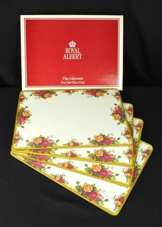 4 Royal Albert Old Country Roses Place Mats Boxed  VGC