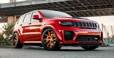 Body kits for Jeep GC Trackhawk | Renegade Design Jeep Srt8, Body Kits, Stop Light, Wide Body, Pure Products, Design