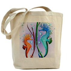 ☼ Sold this #Seahorses #Cartoon #Tote_Bag on #Cafepress! ☼  Many Thanks to the Buyer! :)  http://www.cafepress.com/+seahorses_cartoon_tote_bag,1187785705
