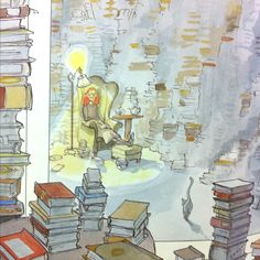 """The Library"" by Sarah Stewart. Illustrated by David Small. 1995 -- the best book ever, pretty much. <3"