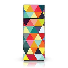 Fridge Decal Vinyl Sticker - Colourful Triangle- Self Adhesive Fridge Sticker