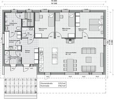 Kreivi-talo, Kokkola - Helga 119, kiva eteis+ sauna+ khh, muutenkin huoneet ok, mutta yksi huone puuttuu.. Floor Plans, Saunas, Flooring, How To Plan, Dream Houses, Layouts, Inspiration, Decoration, Design