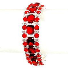 Elegant Affordable Wedding Jewelry Red Clear Glass Rhinestone Silver Tennis Bracelet Affordable Wedding Jewelry http://www.amazon.com/dp/B01B8M1DCM/ref=cm_sw_r_pi_dp_iJLRwb0XK79VC