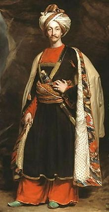 Captain Colin Mackenzie [1806-1881] In his Afghan Dress,-C.1842. Married Adeline Marie Pattle.