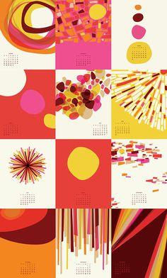 365 Days of Sunshine 2013 Calendar by Little by littlethingsstudio  Tangerine, Pink, Yellow, Burgundy