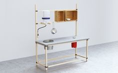 This kit-of-parts solution draws on thedo-it-yourself ethos as well as the modular furniture movement, allowing savvy homeowners to combine off-the-shelf designs with custom connections and modifi…