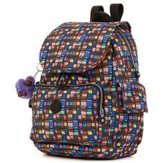 Ravier Printed Backpack - Black Whimsical Windows   Kipling