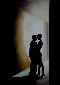 """Saatchi Online Artist: Peter Seminck; Oil, Painting """"Stolen Moments"""""""