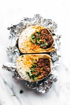 Korean Bbq Bangkok Burrito - An Easy Food-Truck-Style Recipe You Can Make With A Slow Cooker Spicy Beef, Kimchi, Rice, Cilantro, And Sriracha Mayo In A Soft Flour Tortilla. Tostadas, Korean Bbq Beef, Korean Food, Korean Bbq Tacos, Korean Bulgogi, Slow Cooker Recipes, Beef Recipes, Cooking Recipes, Freezer Recipes