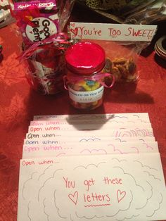 Valentine's Day gifts for my boyfriend❤️ Shutterfly Personalized Mug, Good and Plenty, Homemade Pretzel Bites, Hershey Kisses, Gummy Worms in a Mason Jar (Hooked on you since our anniversary date)