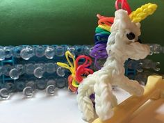 ▶ Rainbow Loom Unicorn or Pony Charm - Designed by Joni Olson's Tinkering - YouTube