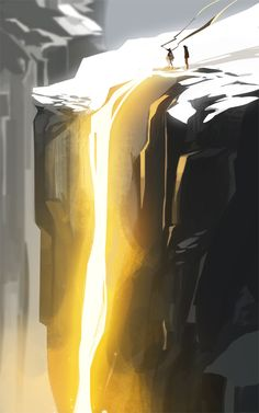 It just so happens that once a year, the sun aligns to illuminate the cliffside like this, explains the Scientist, it's an ordinary mountain, really. A singular event is always special, Nameless...
