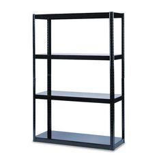 Safco Boltless Steel Shelving, Five-Shelf, 48w x 18d x 72h, Black