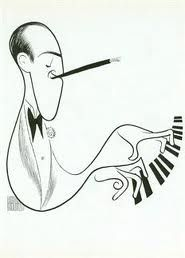 "George Gershwin  Sketch ~ Al Hirschfeld (See more on: ""Art: Al Hirschfeld"" board.)"