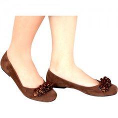 Sepatu Flat Luvia Coklat SKU Latvia 1317 Size 36-40 187000 heels 0 cm flat