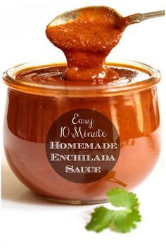 Our Homemade Enchilada Sauce is loaded with fabulous South of the Border flavor and can be used in lots of delicious ways! Sauce Enchilada, Recipes With Enchilada Sauce, Homemade Enchilada Sauce, Homemade Enchiladas, Homemade Sauce, Sauce Recipes, Cooking Recipes, Taco Bueno Chili Sauce Recipe, Authentic Enchilada Sauce