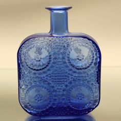 'Grapponia' art glass decanter designed by Nanny Still for Riihimäki Lasi Oy, Finland.