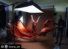 Behind the scenes by @brana_art: #branaart #backstage #branabackstage #fabric #red #studio #assistant #fairytale #inprogress #behindthescenes #art #howitmade