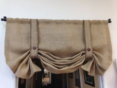 Burlap valance/Black Friday/London shade/For Her/Gifts//Pull up shade/Country Decor/ Wedding decor/Trending items/window treatments/valance Burlap valance/Black Friday/London shade/For Her/Gifts//Pull up shade/Country Decor/ Wedding Bedroom Valances, Bedroom Windows, Window Valances, Bay Windows, Window Blinds, Window Seats, Shabby Chic Curtains, Diy Curtains, Country Curtains
