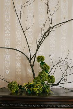Www.clevents.ca #chantillylaceevents #cldesigns #branches #greenery #hydrangeas #uniquedecor #natureinspires #abstract #homedecor