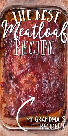 hamburger meat recipes Hearty, filling, and delicious, this simple homemade meatloaf is a classic recipe I stole from grandma. This old-fashioned favorite combines ground beef, b Homemade Meatloaf, Good Meatloaf Recipe, Meat Loaf Recipe Easy, Best Meatloaf, Recipe 4, Sauce For Meatloaf, Healthy Meatloaf Recipes, Turkey Meatloaf, Favorite Meatloaf Recipe
