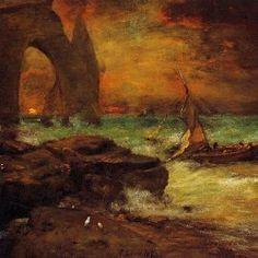 George Inness - Sunset, Etretat