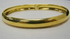 Gold Over Solid 925 Sterling Silver Oval Bangle Bracelet 7 5mm Width 6 1g | eBay