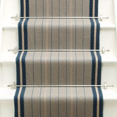 Higherground supply and fit your Roger Oates Trent Airforce carpet stair runner throughout Surrey, Sussex and London - Call us today White Staircase, Staircase Runner, Stair Runners, Staircase Ideas, Hallway Ideas, White Hallway, Hallway Decorating, Entryway Decor, Decorating Ideas
