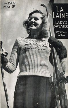 edbd08d1801f5 Vintage Ladies Fair Isle knitting patterns available from The Vintage  Knitting Lady