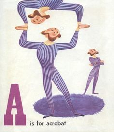 A is for Acrobat Circus Alphabet, Illustrations by Patric Hudson, 1954