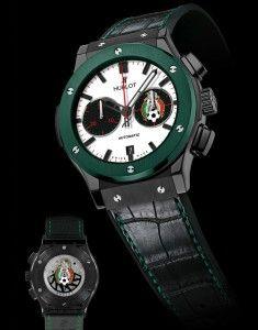 3f7c5c787c  relojes de  lujo  Hublot Classic Fusion Federación Mexicana de Fútbol con  cerámica verde