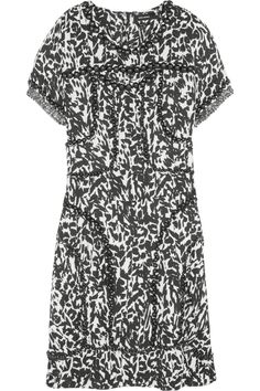 Isabel Marant|Quilame printed silk-crepe mini dress |NET-A-PORTER.COM