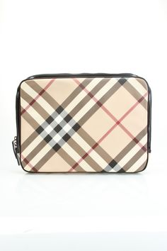 Burberry Check Laptop Sleeve in Camel - Beyond the Rack